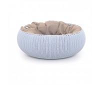 """Лежак для животных с подушкой """"Вязаный комфорт"""", Д 52 x 20,2 см, дымчато-голубой"""