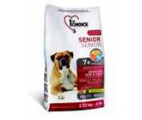 Корм 1st Choice для пожилых собак с ягненком, Senior Sensitive SkinCoat, 12кг.