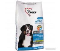 Корм 1st Choice для взрослых собак средних и крупных пород, Adult MediumLarge Breed, 15кг.