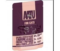 AATU паучи для кошек с лососем, курицей и креветками, AATU FOR CATS SALMON, CHICKEN & PRAWN - 85 г
