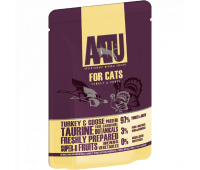 AATU паучи для кошек с индейкой и гусем, AATU FOR CATS TURKEY & GOOSE - 85 г