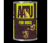 AATU консервы для взрослых собак с уткой и индейкой, AATU DUCK & TURKEY - 400 г