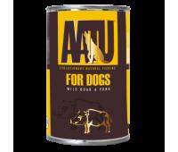 AATU консервы для взрослых собак с мясом дикого кабана и свининой, AATU WILD BOAR & PORK - 400 г