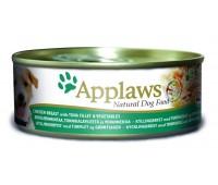 Applaws консервы для собак с курицей, тунцом и рисом, Dog Chicken, Tuna & Rice - 156 г