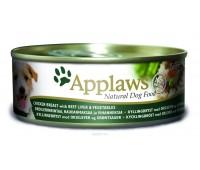 Applaws консервы для собак с курицей, говядиной, печенью и овощами, Dog Chicken, Beef, Liver & Veg - 156 г