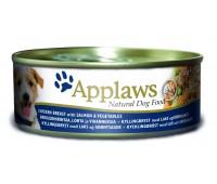 Applaws консервы для собак с курицей, лососем и овощами 12х156гр - 156 г