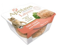 "Applaws консервы для кошек ""Тунец и креветка"", Tuna with Prawn Layer pot, 70 г"