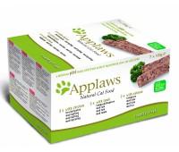 "Applaws набор для кошек ""Курица, ягненок, лосось"": 7шт.*100г, Cat Pate MP Chicken, Lamb & Salmon"