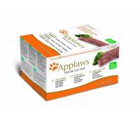 """Applaws набор для кошек """"Индейка, говядина, океаническая рыба"""", 7 шт. х 100г, Cat Pate MP Turkey, beef, Ocean Fish"""