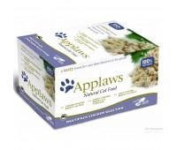 "Applaws набор для кошек ""Куриное ассорти"": 8 шт. x 60г, Cat Chicken Selection MP"