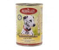 Berkley консервы для щенков с кроликом и овсянкой, Puppy Rabbit&Oatflakes - 400 г