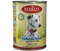 Berkley консервы для собак с индейкой и сыром, Adult Turkey&Cheese - 400 г