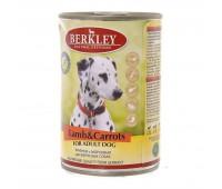 Berkley консервы для собак с ягненком и морковью - 400 г