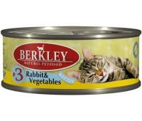 Berkley консервы для котят с кроликом и овощами, Kitten Rabbit&Vegetables  - 100 г