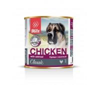 """BLITZ Консервы """"Курица с овсянкой"""", корм консервированный полнорационный для собак всех пород и возрастов 750 гр"""