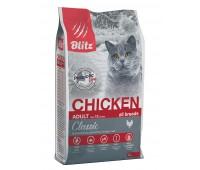 BLITZ Chicken Adult ALL BREEDS КУРИЦА корм для взрослых кошек всех пород   10кг