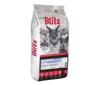 BLITZ  BEEF ADULT CATS ALL BREEDS   ГОВЯДИНА корм для взрослых кошек всех пород   10кг