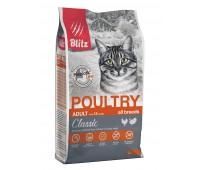 Blitz POULTRY Adult ALL BREEDS  ДОМАШНЯЯ ПТИЦА корм для взрослых кошек всех пород   10кг