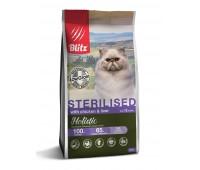 BLITZ Holistic LG FOR STERILISED CATS ALL BREEDS WITH CHICKEN & LIVER  ДЛЯ КАСТРИРОВАННЫХ ИЛИ СТЕРИЛИЗОВАННЫХ КОШЕК И КОТОВ  всех пород (курица и печень) 0,4кг