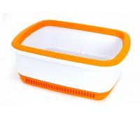 Кошачий туалет с системой защиты от запаха CatEco оранжевый