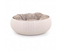 """Лежак для животных с подушкой """"Вязаный комфорт"""", Д 52 x 20,2 см, дымчато-бежевый"""
