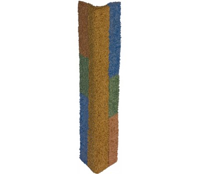 Дарэлл 8403 Когтеточка угловая большая цветная, ковролин 74*39,5см