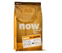 NOW! NATURAL Holistic Корм Беззерновой для Взрослых собак с Индейкой, Уткой и овощами (Fresh Adult Recipe Grain Free 26/16) 0,23кг.