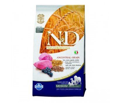 N&D Low Grain Dog Lamb & Blueberry Adult - Спельта, овес, ягненок, черника