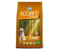 Ecopet Natural Lamb Mini - для взрослых собак с проблемами пищеварения и аллергией