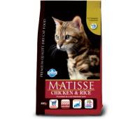 Matisse Chicken & Rice - Полнорационный и сбалансированный корм для взрослых кошек.