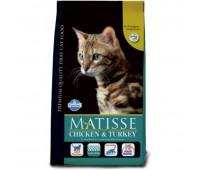 Matisse Chicken & Turkey - Полнорационный и сбалансированный корм для взрослых кошек.