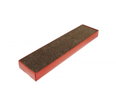 """Плоская картонная когтеточка """"Подиум"""" 48X12,5X5 см, TIRAGRAFFI CARTONE"""