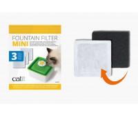 Сменный фильтр (3 шт) для питьевого фонтанчика Catit Sences 2.0 мини