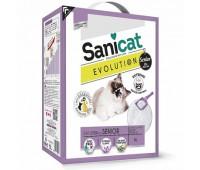 Комкующийся антибактериальный наполнитель для пожилых кошек, мощный контроль запаха без пыли, Evolution Senior - 5,2 кг