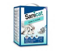 Комкующийся белый наполнитель с ароматом детской присыпки (Sani&Clean 6l) PSANCLBP006L31, Sani&Clean - 5,3 кг