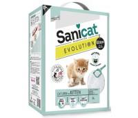 """Комкующийся наполнитель для котят """"Легкое приучение"""", контроль запаха без пыли, с ароматом детской присыпки, Evolution Kitten - 5,2 кг"""