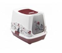 Туалет-домик Trendy classic с угольным фильтром, 50х41х39, малиновый