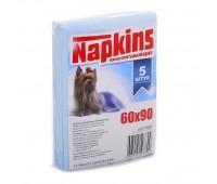 Впитывающие пеленки для собак 60x90, 5 шт.