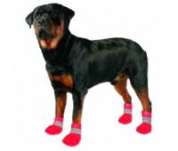 Обувь для собак Paw Tector Dog Boots ( 4 шт)   красный, черный цвет -водоустойчивые