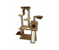 """Когтеточка """"Игровая площадка"""" коричневая, 80x43x140 см, Scratcher Pisa"""