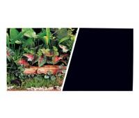 Фон Зеленые растения/Черный, 45 см 7,5 м