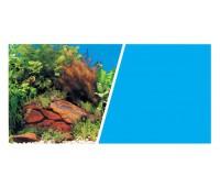 Фон Растения на камнях/Голубой 45 см 7,5 м