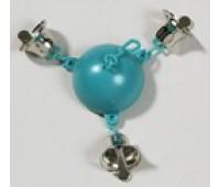 Игрушка для птиц - полусфера с тремя колокольчиками