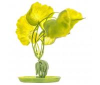 Растение пластиковое зеленое Банан 20 см