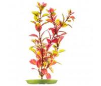 Растение пластиковое зелено-красное Людвигия 20 см