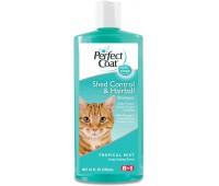 8in1 шампунь для кошек PC Shed Control  Hairball против линьки и колтунов с тропическим ароматом 295 мл