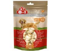 8in1 DELIGHTS XS косточки для мелких собак 21х7,5 см (пакет)