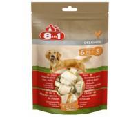 8in1 DELIGHTS S косточки для мелких и средних собак 6х11 см (пакет)