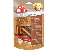 8in1 Grills Bacon гриллс снеки в виде бекона из говяжьей кожи и куриного мяса 80 г