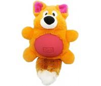 "R2P игрушка для собак Multi-tex ""Лиса"" плюш/резина с пищалкой 19 см"